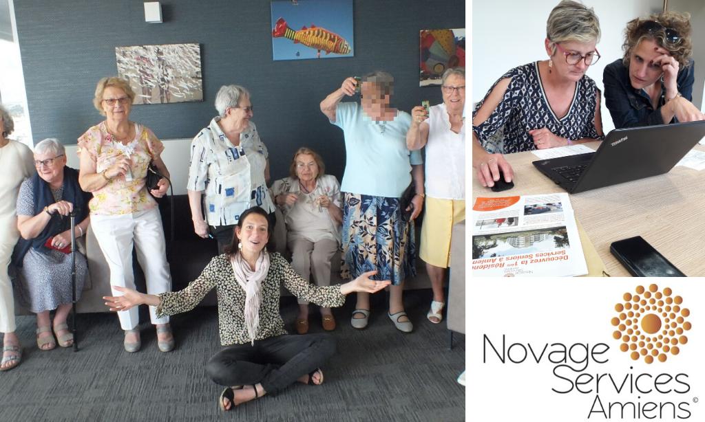 Actualités web et page Facebook de la résidence Novage
